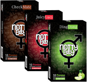 Nottyboy (3X10S) Multi Flavored Pack Strawberry, Chocolate  Green Apple