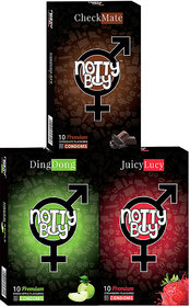 Nottyboy Mix Fruit Flavor Variety Pack For Men - (3X10S- 30)