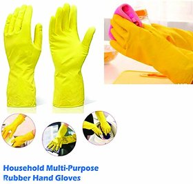 Eastern Club House Hold Cleaning Rubber Hand Gloves, Kitchen,Washing Toilet Cleaning,Garden (10 Pair)