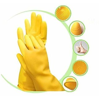 Eastern Club Cleaning Gloves Reusable Rubber Hand Gloves, Washing Cleaning Kitchen Garden (10 Pair)