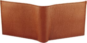 Amazeexpress - New Genuine Leatherite Tan Wallet For Men - Bi-Fold Wallet.