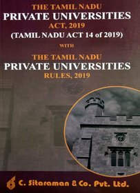 The Tamil Nadu Private Universities Act 2019 With The Tamil Nadu Private Universities Rules 2019