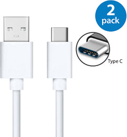 Ag 2A-2.4A Type C Data Transfer Usb Cable Pack Of 2 All Type C Phone Are Support