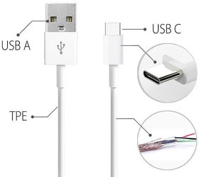 Ag 2A-2.4A Type C Data Transfer Usb Cable Pack Of 1 All Type C Phone Are Support