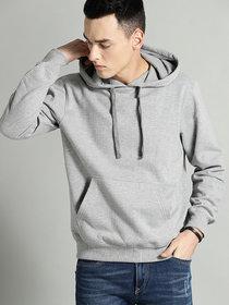 Dcrooz Men Grey Hooded Sweatshirt