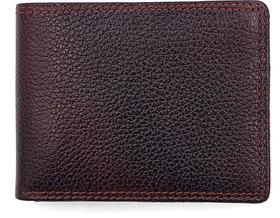 New Genuine Cherry Brown Men's Leather Wallet