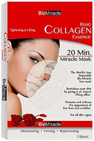 Biomiracle - Rose Collagen Essence (Single Sheet Face Mask)