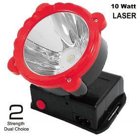 Rock Light Rechargeable Powerfull 10 Watt Ultra Bright Led Light Head Torch Rechargeable Lamp For Home, Industrial Work