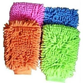 Multi Purpose Micro Fiber Washing Gloves (2 pcs)