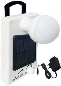 White 12 LED Plastic Solar Bulb With Charge Rechargeable Emergency Light By sahi