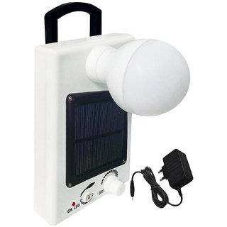 12 LED Solar Bulb With Charge Rechargeable Emergency Light  (White) By sahi