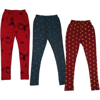 IndiWeaves Girls Printed Warm Wollen Winters Leggings (Pack of 3)