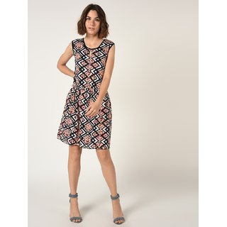 VERONIQUE Multicolor Casual A Line Dress