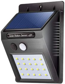 Idyah Solar Wireless Security Motion Sensor LED Night Light (Black)