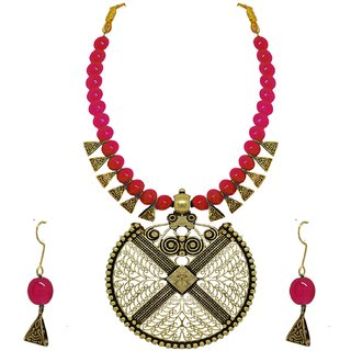 JSD Gold Plated Fancy Necklace Set For Girl & Women