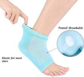 Smart Matto 2 Pair Heel Pain Relief Silicon Gel Heel Socks