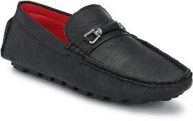 Lee Peeter Men's Black Driving Loafers