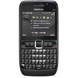 Refurbished Nokia ARM 11 369 MHz E63 2G Single Sim Feature Phone (6 Months,WarrantyBazaar Warranty)