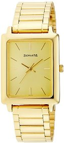 Sonata Analog Gold Dial Mens Watch - NF7078YM02