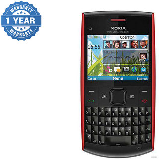 Refurbished Nokia X2-01 Black/Red Qwerty Keypad Mobile