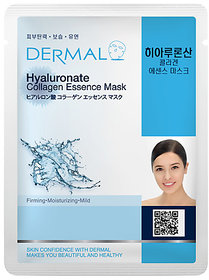 Dermal Hyaluronate Collagen Face Mask : Retain Skin Moisture & Anti-ageing