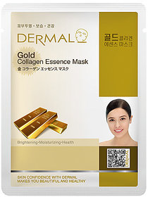 Dermal Gold Collagen Face Mask - Bright, Soft and Detoxifies Skin