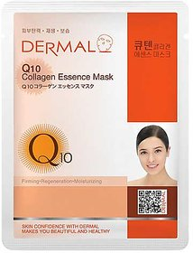 Dermal Q10 Collagen Face Mask  Prevent damage  Moist Skin