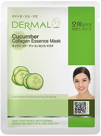 Dermal Cucumber Collagen Face Mask  Dull  Dry Skin
