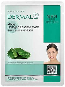 Dermal Aloe Collagen Face Mask  Soothing  Heal Skin