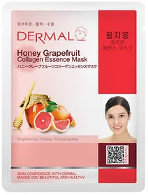Dermal Honey Grapefruit Collagen Face Mask  Wrinkle  Dark Spot Free Skin