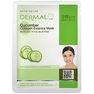 Dermal Cucumber Collagen Face Mask For Dull & Dry Skin