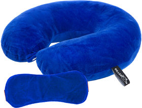 Billebon Neck Pillow With Eye Mask For Flight Train Bus