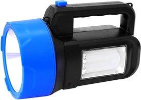 Rock Light  50 Watts Laser Blinker 3 in 1 Jumbo Rechargeable Torch + Side Tube Emergency Light + Blinker Signal with Str