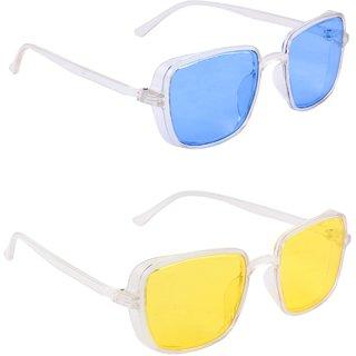 TheWhoop Supreme Kabir Singh Rectangular Blue And Yellow Unisex Sunglasses