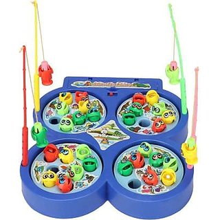 SHRIBOSSJI FISHING CATCHING GAME WITH MUSICAL TOY FOR KIDS (MULTI COLOR)