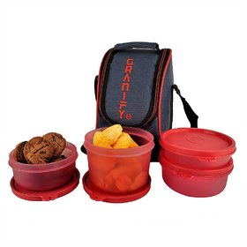 GRANIFY Lunch Box ( 4 Containers With Bag Cover ) I