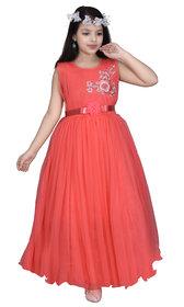 Sky Heights' Girls Gajri Frock Gown Party Wear Dress for Kids
