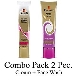 elements fairness cream with face wash