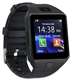 Black Bluetooth Analog Digital Smart Watch with Call Function