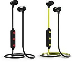 Syska H-15 Bluetooth Headset with Mic  (Black, In the Ear)