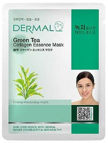 Dermal Green-Tea Collagen Face-Mask  Soft  Healthy Skin