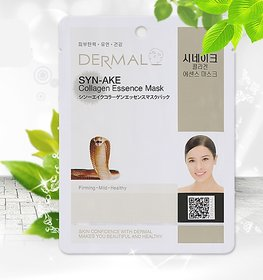 Dermal Syn-ake Collagen Face Mask  Smooth  Elastic Skin