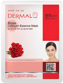 Dermal Rose Collagen Face Mask  Clean  Glowing Skin