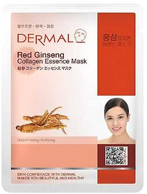 Dermal Red Ginseng Collagen Face Mask for Women  Anti-ageing  Youthful Skin