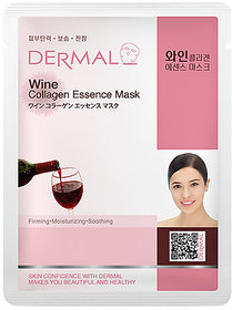 Dermal Wine Collagen Face Mask  Anti-ageing  Dark spot Free Skin