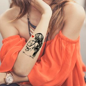 Pack Of 1 VOORKOMS Unisex Multicolor Maa Temporary Tattoo Design