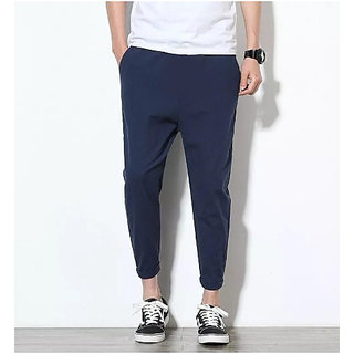 Fashlook Navy Baloon Slim Fit Pant For Men