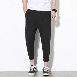 Fashlook Men Black Baloon Casual Slim Fit Pant