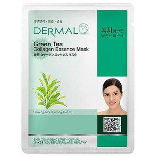 Dermal Green-Tea Collagen Face-Mask Soft Healthy Skin