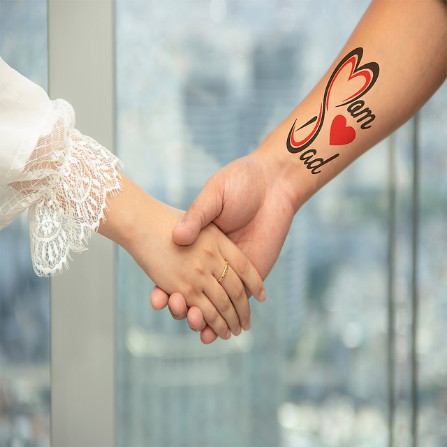 Buy Voorkoms Mom Dad Tattoo Design Men Women Waterproof Temporary Body Tattoo Online Get 65 Off